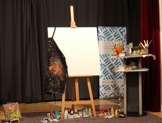 Vorbereitung auf die zweistündige Kunstperformance