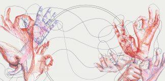 Illustration des Dialog im Stillen von Melanie Schwarz
