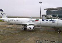 """Ein Airbus A321 der iranischen Fluglinie """"Iran Air""""."""