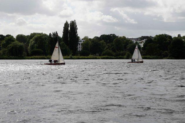 Die HAW im Boot 1 holt auf. Foto: Nadine von Piechowski