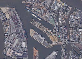 Um diesen Bereich des Hamburger Hafens geht es: Steinwerder von oben.
