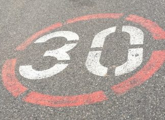 Straßenbemalung Tempo-30-Zone