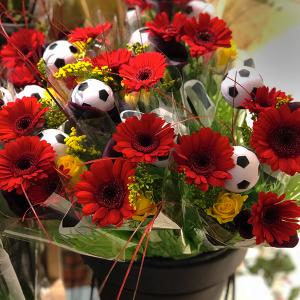 WM-Fanartikel Blumen