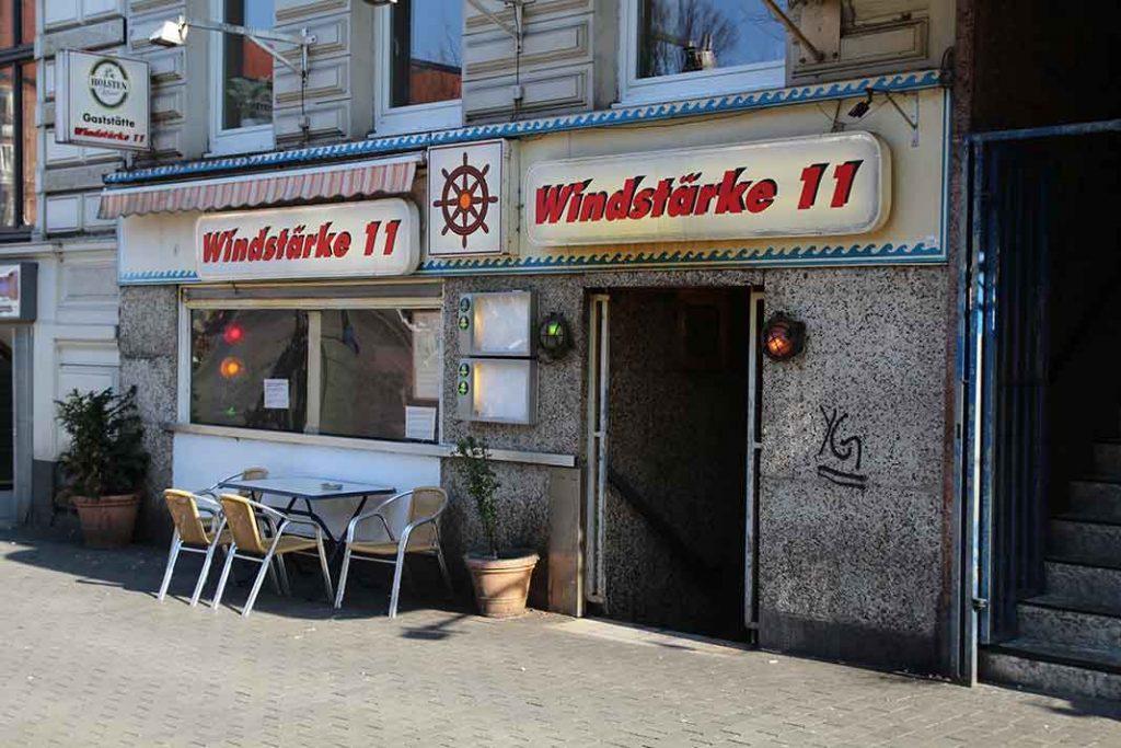Die Kneipe Windstäke 11 auf dem Hansaplatz. Foto: Sophie Schreiber und Jana Trietsch
