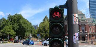 Die Kreuzung Sievekingplatz ist einer der Orte, der Radfahren in Hamburg so gefährlich macht