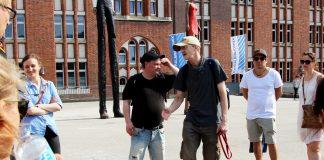 Die beiden Stadtführer von Hinz & Kunzt sind ehemalige Obdachlose. Foto: Nadine von Piechowski