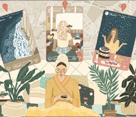Instagram-Stories der Freunde im Bett anschauen