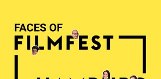 Faces of Filmfest. Logo: Filmfest Hamburg, Grafik: Jana Trietsch