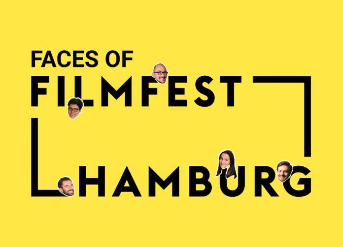 Faces of Filmfest. Logo: Filmfest Hamburg, Grafik: Jana Trietsch
