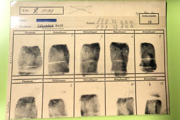 Polizeimuseum: Jeder Mensch hat individuelle Fingerabdrücke