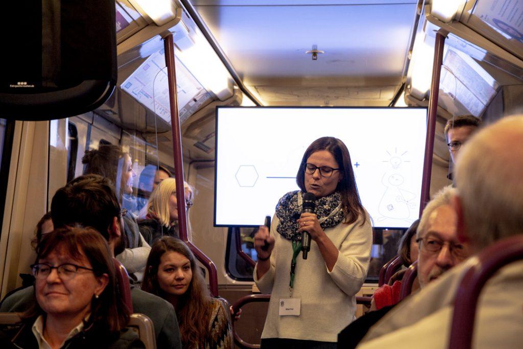 Maxi Frei während ihres Vortrags in der U3.
