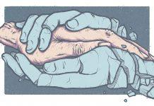 Das Personal versucht der Pflege der Bedürftigen gerecht zu werden. Durch Überlastung in den Altenheimen werden aber sowohl sie selbst, als auch die Patienten zum Opfer. Illustration: Yannick de la Pêche