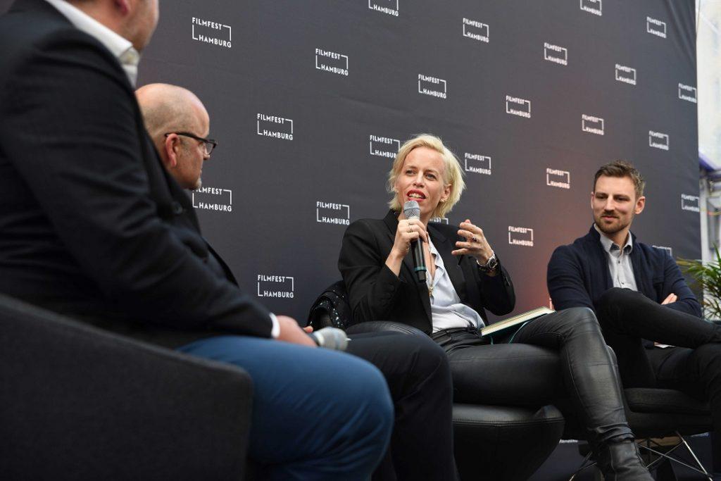 """Journalistin Katja Eichinger moderierte die Veranstaltung zu Streaming-Diensten. Foto: <a href=""""http://www.jasper-ehrich.de"""">Jasper Ehrich </a> (Filmförderung Hamburg Schleswig-Holstein)"""