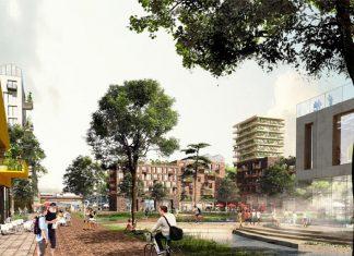 So könnte das Zentrum des Bahnquartier aussehen. Foto: Adept mit Karres Brandes
