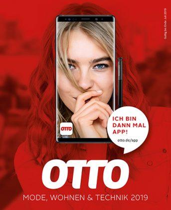 Digitale Transformation: Der letzte gedruckte Hauptkatalog von Otto zeigt den Wandel von der gedruckten zur digitalen Warenpräsentation auf dem Cover. Foto: Otto GmbH & Co KG
