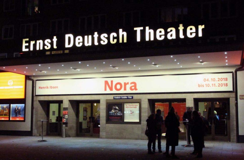 Hier findet Uni trifft Theater statt: Das Ernst Deutsch Theater in Mundsburg. Foto: Nadine von Piechowski