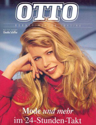 Claudia Schiffer auf dem Otto-Katalog 1993. Auch Heidi Klum und Nena zierten schon das Cover. Foto: Otto GmbH & Co. KG