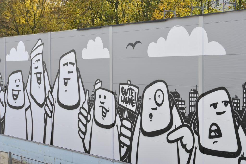 Freaks an der U-Bahn-Haltestelle vom Hamburger Künstler Rebelzer. Foto: Hochbahn