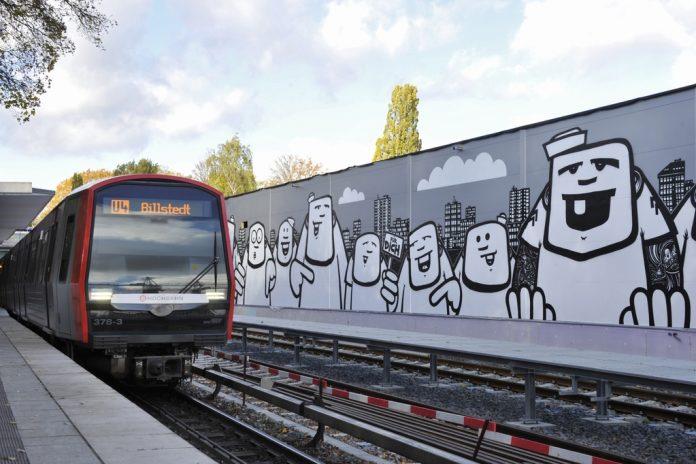 Street-Art vom Hamburger Künstler Rebelzer. Foto: Hochbahn