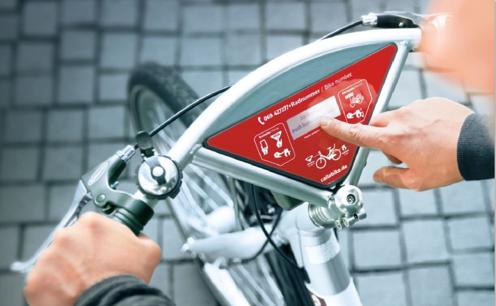 Ansicht eines neuen Stadt-Rad-Modells mit der Bedieneinheit am Lenker. Ab Februar 2019 können die Räder an den Stationen ausgeliehen werden. Foto: Freie und Hansestadt Hamburg