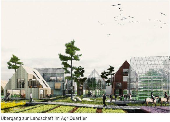Das Agri-Quartier zeichnet sich durch freie landwirtschaftliche Fläche aus.