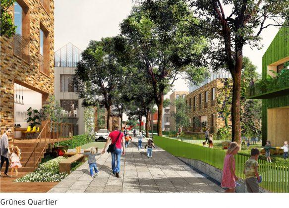 Das Grüne Quartier ist als Bildungs- und Begegnungsstätte geplant.