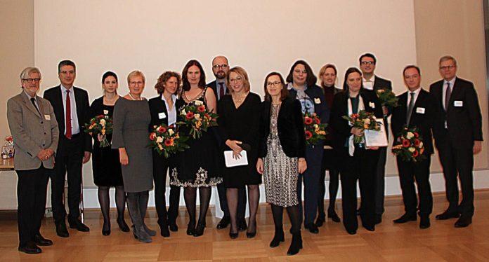 Gruppenbild der Preisträger des Wissenschaftspreis