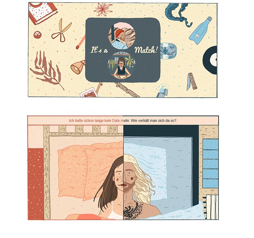 Comic von Anna Karetnikova zum Ersten Eindruck. Teil 1