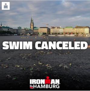 Offizieller Post zur Absage des Schwimmens beim IRONMAN Hamburg