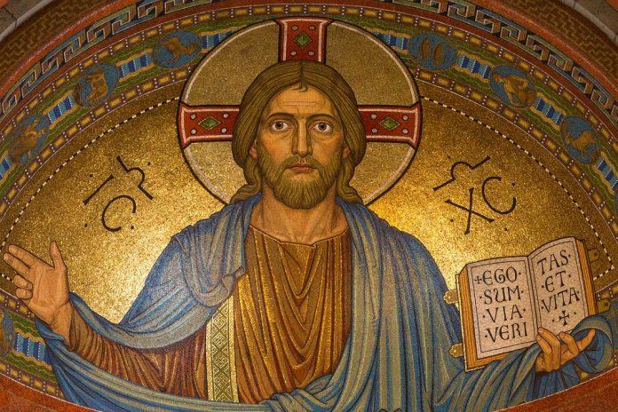 Ein Bildnis von Jesus Christus.