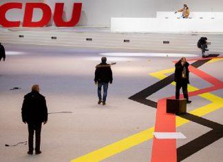Von Donnerstag bis Samstag findet in Hamburg der CDU-Parteitag statt. Foto: Kay Nietfeld/dpa +++ dpa-Bildfunk +++