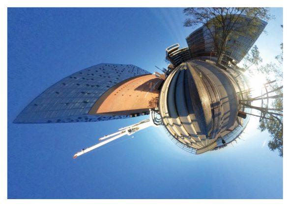 Die Elbphilharmonie von Tim Hannesen als Tiny Planet. Fotoquelle: Wolfgang Swoboda