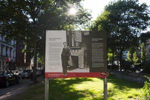 Die Gedenktafel an der Talstraße auf St. Pauli. Foto: Astrid Benoelken