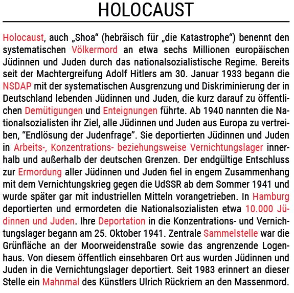 Informationen zum Holocaust