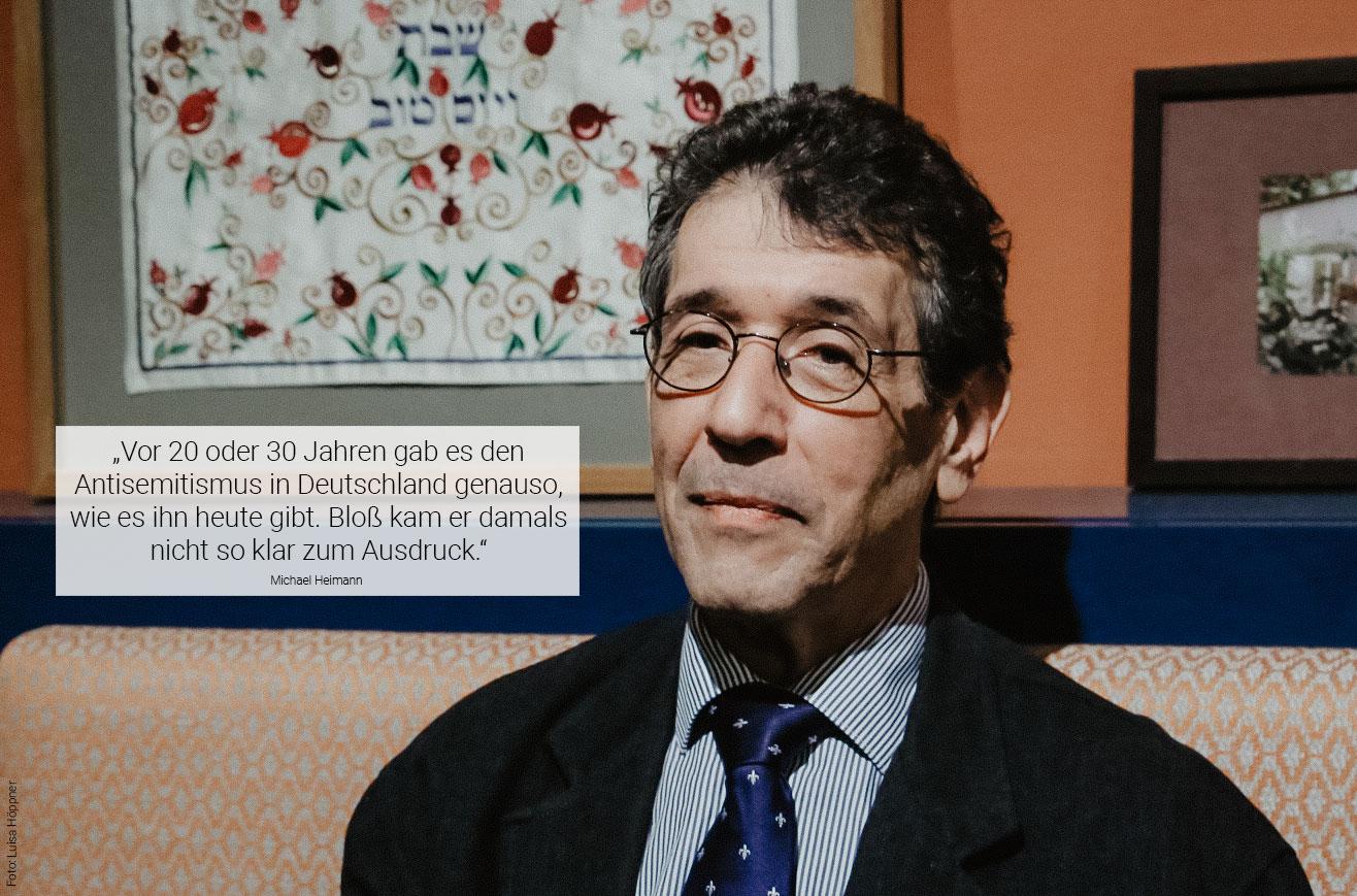 Michael Heimann ist Vorstandsmitglied des Jüdischen Salon e.V.. Foto: Luisa Höppner