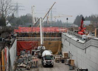Diese Autobahn-Baustellen kommen 2019. Die Autobahn-Baustelle des Lärmschutz-Tunnel der Autobahn 7 in Hamburg-Schnelsen im November 2018.