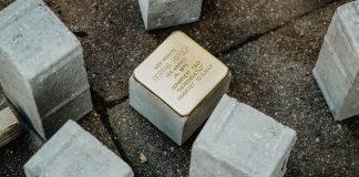 Der Stolperstein von Bertha Hirsch Im Tale 13 in Hamburg Eppendorf. Foto: Luisa Höppner