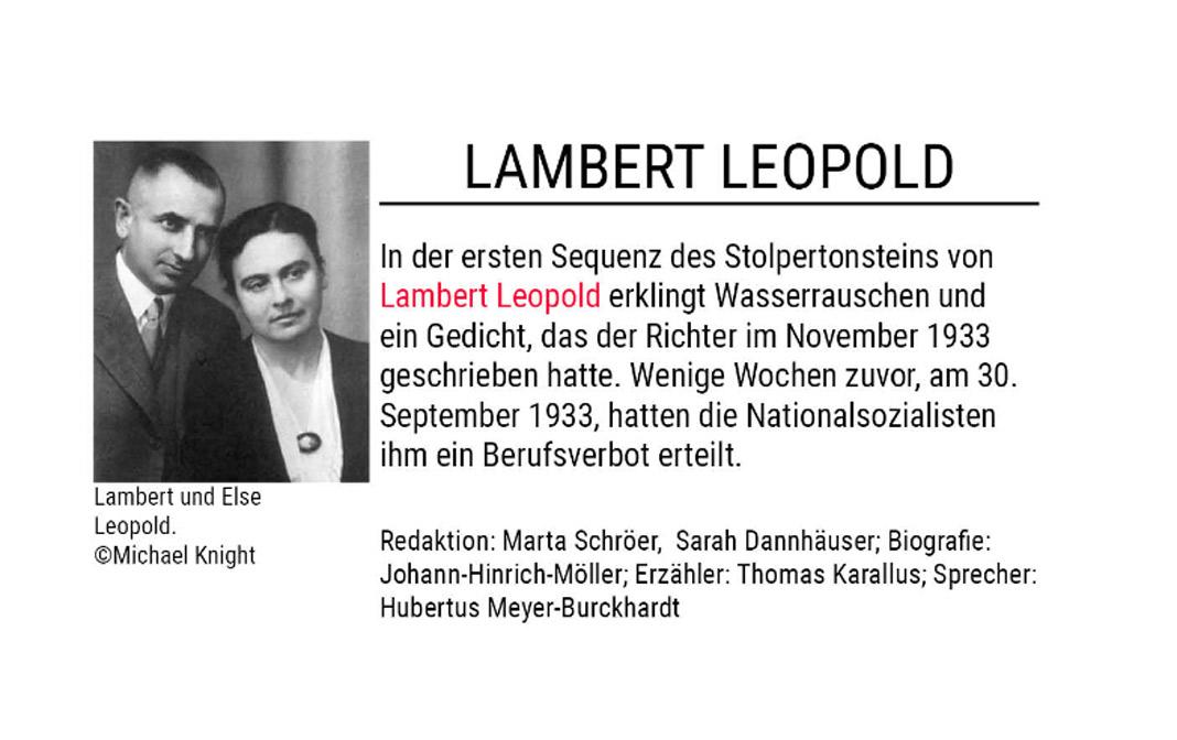 Stolpertonstein von Lambert Leopold