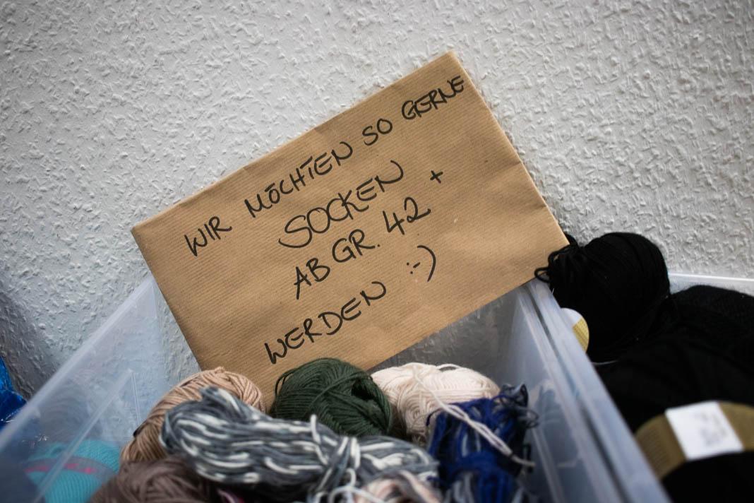 Momentaner Bedarf: Socken Größe 42+. Foto: Melina Mork