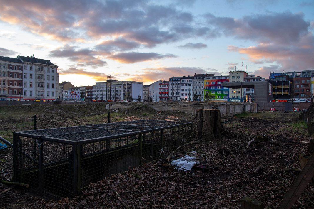 Brachfläche der ehemaligen Esso-Häuser an der Reeperbahn auf der das Paloma-Viertel entsteht. Foto: Max Nölke