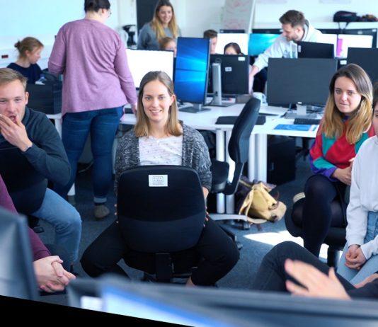 Zum Videobeitrag: Das FINK.HAMBURG-Team geht online.