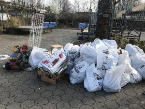 Das Ergebnis der Müllsammelaktion