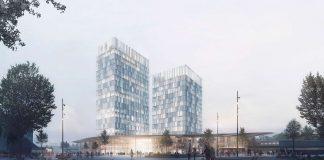 Blick auf das Konzept des neuen Bahnhofs Diebsteich von Das Konzept des neuen Bahnhofs Altona. Foto: C. F. Møller