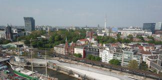 Blick von der Elbe auf den neuen Elb-Boulevard