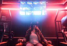 Eine Besucherin der Discovery Docks steuert bei der Eröffnung der Hafen-Erlebniswelt mit Hilfe einer VR Brille virtuell einen Containerbrückenkran.