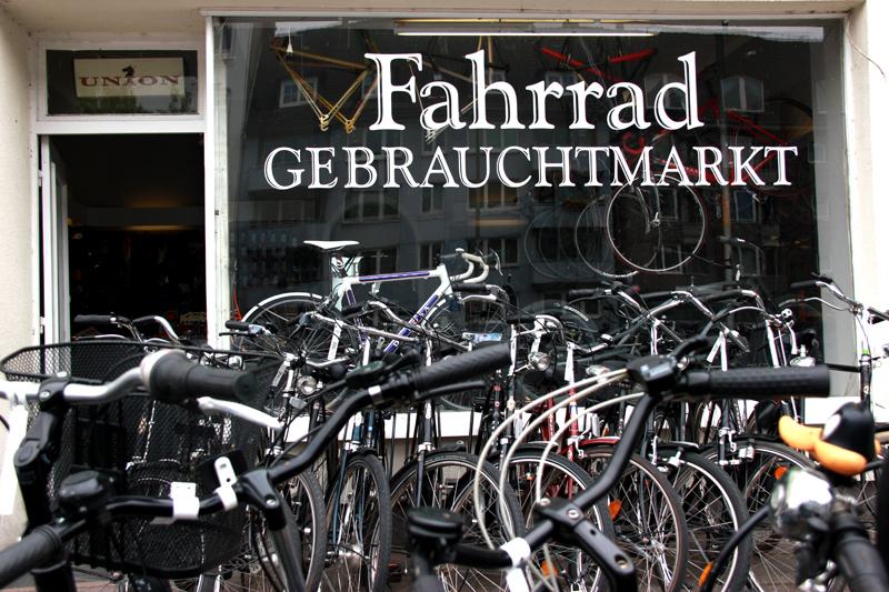 Eingang des Fahrradgebrauchtmarkts