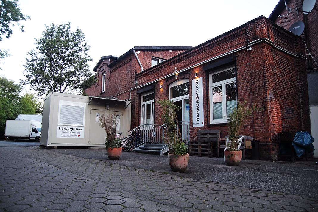Das sanierte Industriegebäude des Harburg-Huuses.