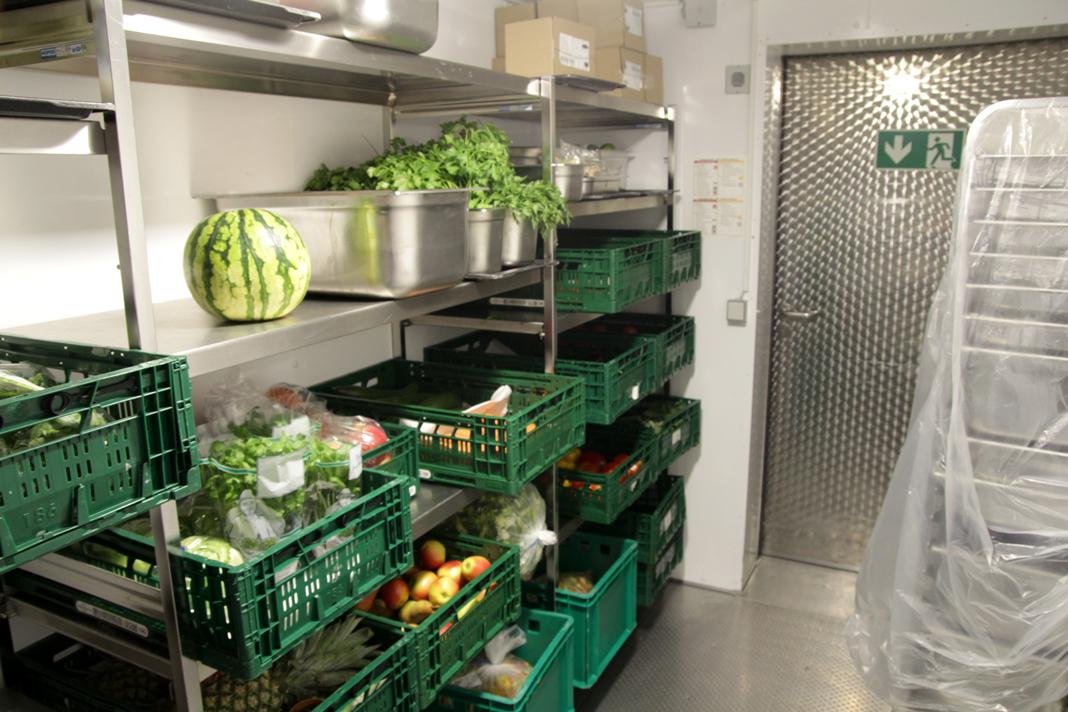Kühlkammer der Mensa