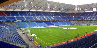 Blick in das Volksparkstadion des HSV