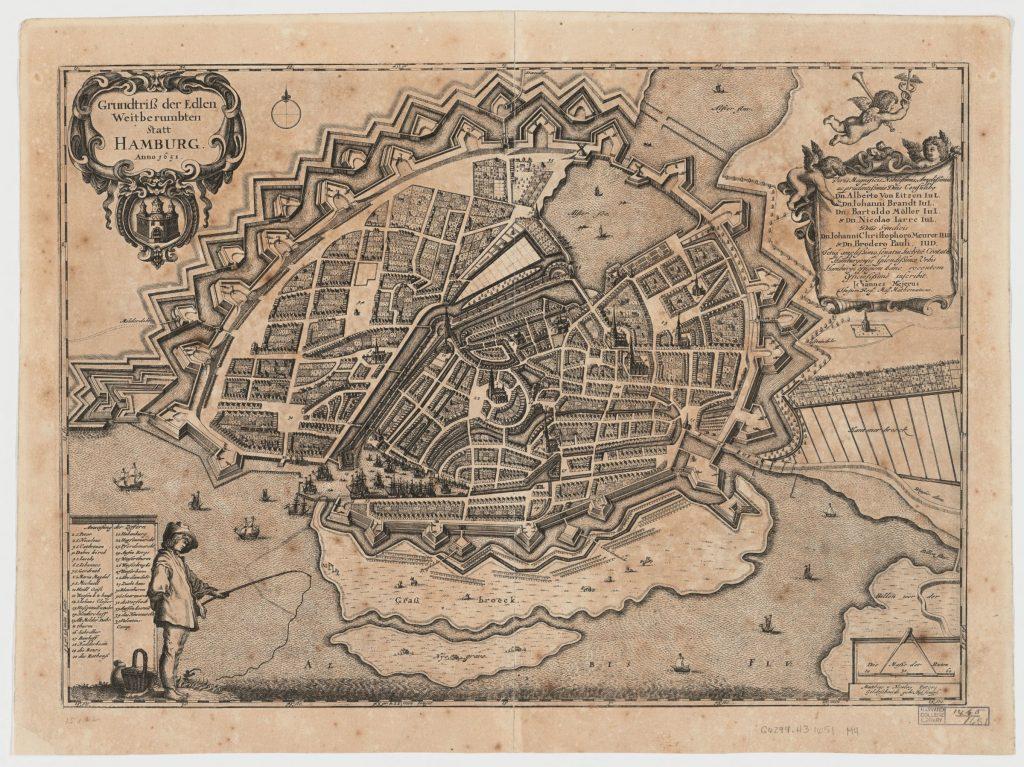 Grundriss Hamburg 1651 Johannes Mejer